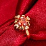 결혼식 우아한 여자 반지가 형식 보석 새로운 디자인에 의하여 CZ 꽃이 핀다