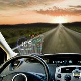 5.5 het AutoHoofd van Hud van de Auto '' op LCD van de Vertoning het Digitale Systeem van het Alarm van de Overdreven snelheid van Hud van de Interface van het Voertuig van de Projector OBD2 II A8