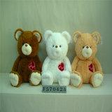 Urso encantador padrão da peluche do luxuoso Cp65 com a camisa vermelha de T