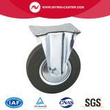 8 Zoll-Platten-Schwenker-industrielle Gummifußrolle