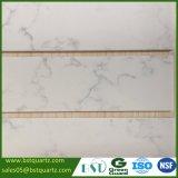 controsoffitto bianco artificiale della pietra del quarzo di 2cm con le vene grige