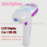 Removedor do cabelo do Shaver elétrico de Epilator do indicador do LCD para o cuidado pessoal
