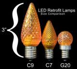 세륨에, RoHS 방수, 훈장을%s 크리스마스 불빛 이상으로 고드름 C7C9 UL