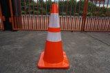Oranje Kleur Kegel van de Weg van het Verkeer van pvc van 28 Duim de Weerspiegelende