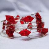 La chaîne de caractères féerique du micro 30 DEL de languettes rouges de baiser Lights4.9 pi (1.5m) pour DIY autoguident la pièce maîtresse de mariage d'usager
