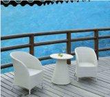 옥외 가구 등나무 의자 및 등나무 테이블