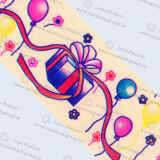 Neues Entwurfs-Geschenk-Verpackungs-Band, preiswertestes Geschenk-Papier