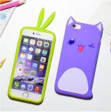 MengペットiPhone 6s 6plusの極めて薄く柔らかいシリコーンの電話箱(XSDW-085)を除去する3D愛