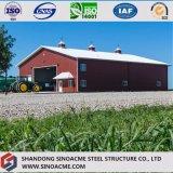 Entrepôt en acier de bâti portique pour le véhicule d'agriculture