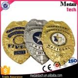 Pin del risvolto della polizia degli S.U.A. del ricordo del fornitore della Cina con le spille di sicurezza