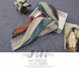 Alta cantidad de cross impresión de la tela cruzada de impresión de la bufanda