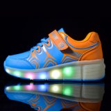 حارّ خداع نمط [لد] [رولّر سكت] أحذية إستعمال شبكة و [بو] لأنّ جدي رياضة أحذية حذاء رياضة قابل للانكماش بكرة أحذية [هيغقوليتي]