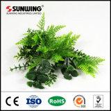 12 pedazos 50 hojas artificiales plásticas de la pantalla del boj de X50cm con Ce del SGS