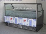 Showcase de Gelato com compressor de Danfoss