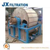 Filtro de cilindro giratório do vácuo da descarga do raspador