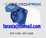 3p 6h IP44 16A Superfície Cee / IEC PP / PA industrial Soquete Montado