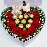 Coffret en forme de coeur Flower Rose Offset Boîte imprimée Fp70062