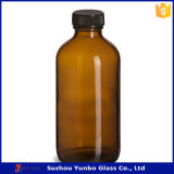 frasco de vidro ambarino do conta-gotas 240ml com tampão de parafuso