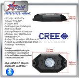 La roche de RVB DEL allume le nécessaire de 4 de cosses cosses du nécessaire 8 outre du contrôle de Bluetooth de lumières de roche de route pour la couleur changeant 6 de cosses du nécessaire 12 de cosses mini DEL lumières de roche du nécessaire