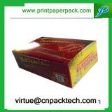 Caja de embalaje plegable impresa del regalo de papel rígido con insignia