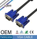 Double mâle protégé de câble des 3+6 VGA de Sipu 6FT au mâle