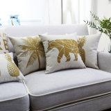 Angemessene Baumwolldekoratives lumbales Leinenkissen für draußen