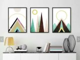 Dekor, der abstraktes dekoratives Ölgemälde, mannigfaltigen Geometrics Farbanstrich anstreicht