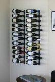 Cremagliera di visualizzazione fissata al muro di legno di alluminio della bottiglia di vino della nuova novità di disegno
