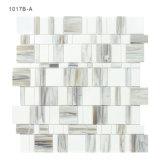 El azulejo de mosaico suministra el vidrio blanco de Backsplash de la cocina en rocas