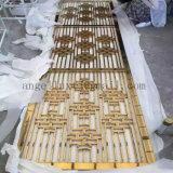 Écran se pliant de partition d'écran d'acier inoxydable de diviseur de pièce en métal de couleur d'or de type chinois