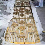 Sitio del metal del color del oro del estilo chino de acero inoxidable Divisor de pantalla plegable Biombo