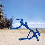 El acero galvanizado asentó aptitud al aire libre de la prensa de la pierna