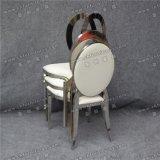 Banquet empilable d'hôtel de cuir blanc Wedding la présidence d'acier inoxydable (YZ-SS133)