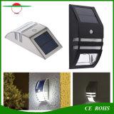 Lumière solaire extérieure de degré de sécurité de lampe de mur de PIR 2 DEL pour le bas-côté