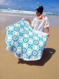 Полотенце полотенца пляжа Mandala круговое круглое турецкое