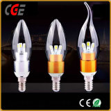 lampadina della candela munita 5W di 2700k LED con le certificazioni di RoHS del Ce