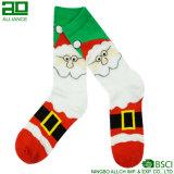 Calcetines lindos de la alineada del equipo de la felicidad de la melaza de Papá Noel