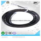 Tubo flessibile nero dello spruzzo con Fittigns