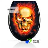 Cierre Soft- vendedor caliente del fabricante 3kg del asiento del Wc de los asientos de tocador del MDF