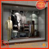 Escaparate de madera de la ropa de las cabinas de visualización del departamento de la ropa para la tienda al por menor