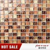 Mosaico clásico de la resina de la mezcla del vidrio cristalino de Brown del espesor del diseño 8m m