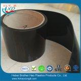 Massenaktien glatter schwarzer undurchlässiger PVC_Strips Tür-Vorhang-Streifen