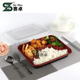 3 Schip van de Doos van de Lunch van de Container van Picnicware van de Container van het Voedsel van de reeks het Beschikbare Plastic