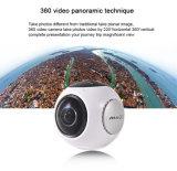 真新しい4k 220程度3D PanoremicのSDHCの高速記録をサポートする60fpsフレーム率のビデオが付いている有料移動式スポーツの処置のカメラによる360度