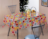 Tablecloth transparente do PVC, material impresso do PVC e forma do quadrado, Oilproof, caraterística descartável, impermeável