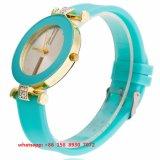 Het nieuwe Horloge van de Beweging van het Kwarts van de Stijl met de Riem van het Silicone voor Vrouwen Fs 502