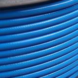 Gerades Luft-Schlauch-/Wetterlutte-/der Luftröhren-5*8 Hochdruckblau des Polyester-TPU umsponnenes