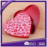 Il tessuto su ordinazione del commercio all'ingrosso caldo di vendita ha coperto i contenitori di regalo a forma di cuore