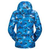Водоустойчивая куртка лыжи печатание женщин с курткой ватки внутрь