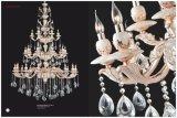 ヒスイの金および白いホテルのプロジェクトの水晶シャンデリアライト